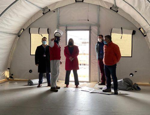 Autoridades visitaron obras de levantamiento de Hospital Modular en Limache
