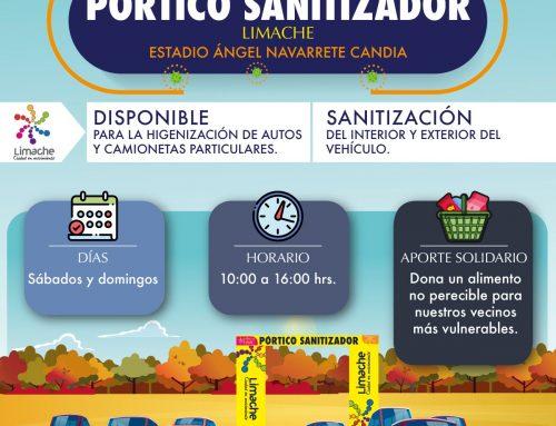 Más de 70 vehículos utilizaron el pórtico sanitizador de Limache el pasado fin de semana
