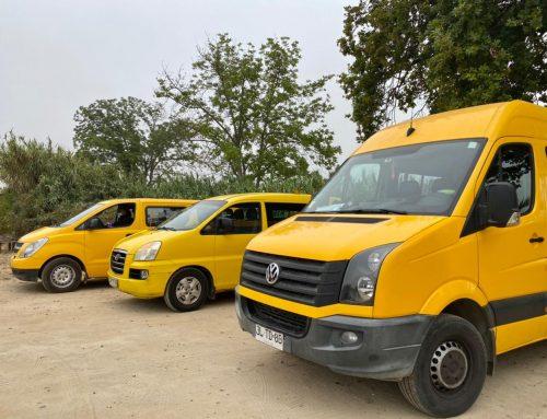 Buses escolares de Limache se preparan para el retorno a clases con protocolo COVID.
