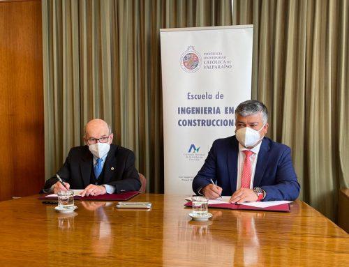 ESCUELA DE INGENIERÍA EN CONSTRUCCIÓN PUCV Y ASOCIACIÓN DE MUNICIPIOS DE LA REGIÓN DE VALPARAÍSO FIRMAN CONVENIO DE COLABORACIÓN